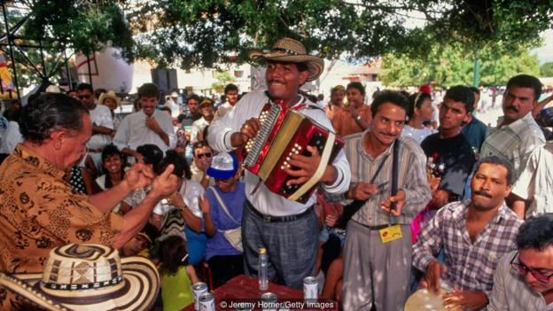 Colombian vallenato music heavily features the accordion (Credit: Credit: Jeremy Horner/Getty Images)