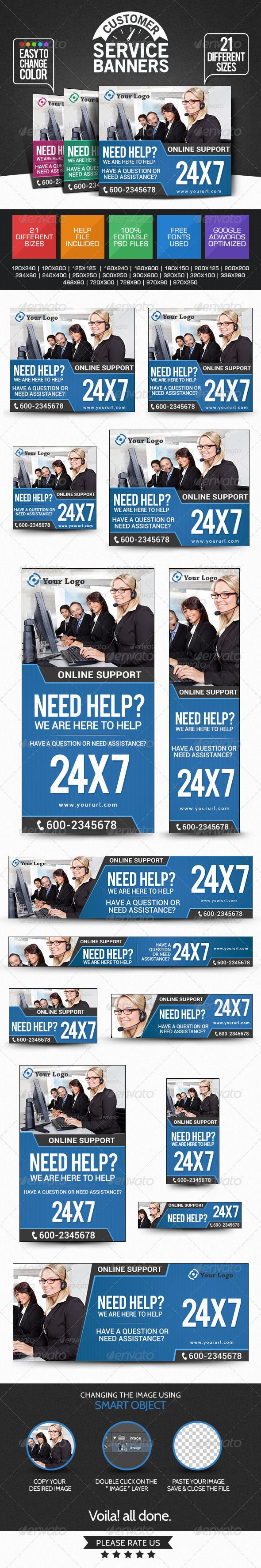 Customer Support Banners
