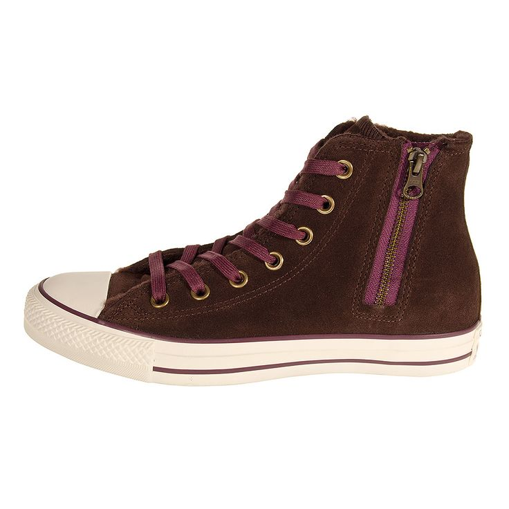 Converse All Star Hi Top Side Zip Boots (Burnt Umber) | See more about All Star, Converse and Converse All Star.