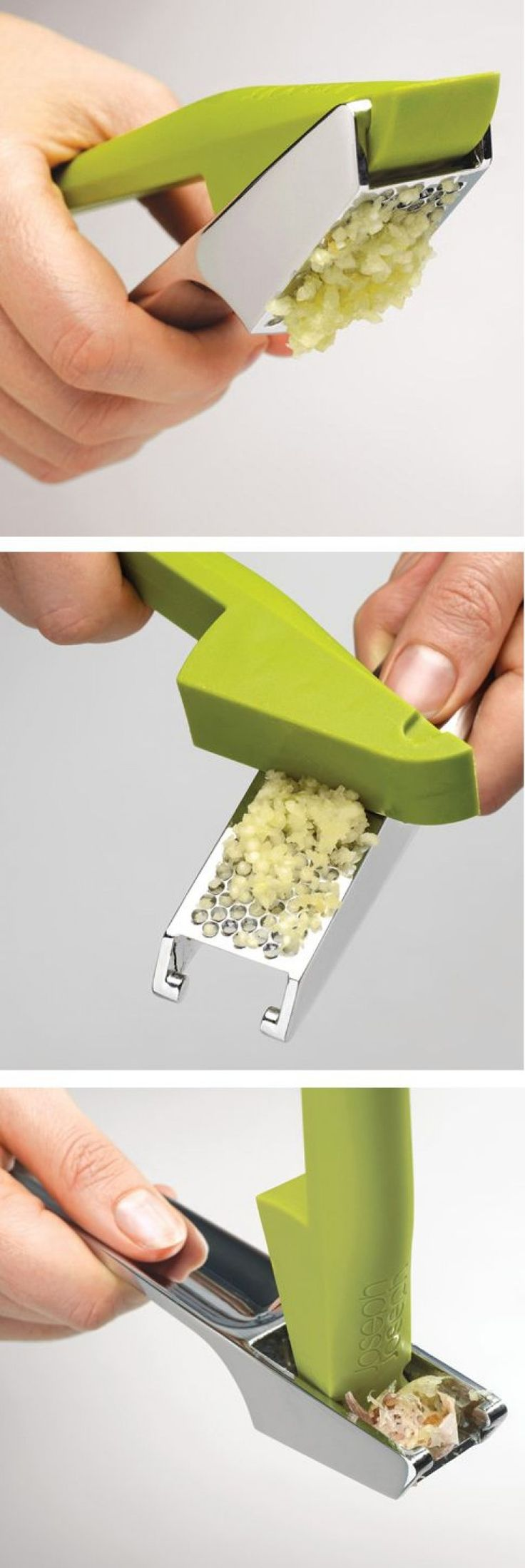 Easy-Press Garlic Press with Integrated Scraping Tool
