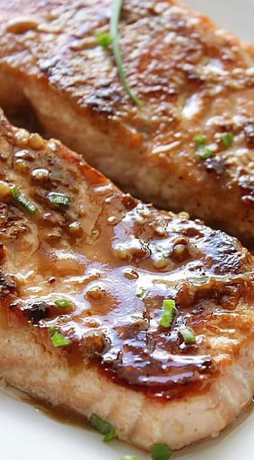Honey Garlic Salmon - Marinate it, bake it and then serve drizzled with the sauce. It's that easy. Yum.