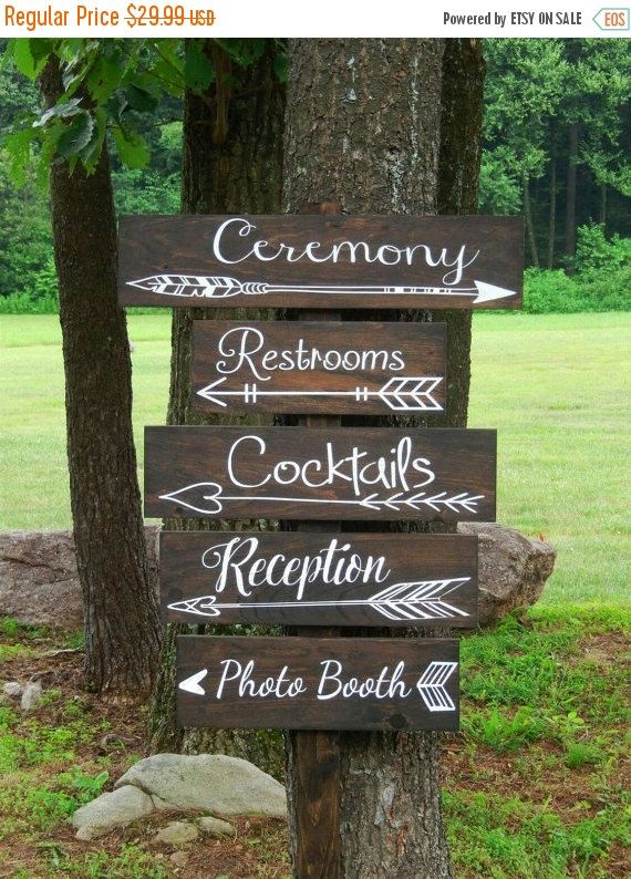 End of Summer SALE One Wedding directional by NaturalDesignsByRio