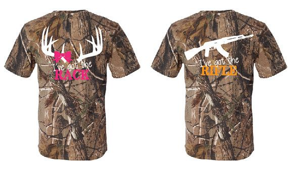 Couples fluorescent orange and pink camo t shirts i 39 ve for Custom t shirts camouflage