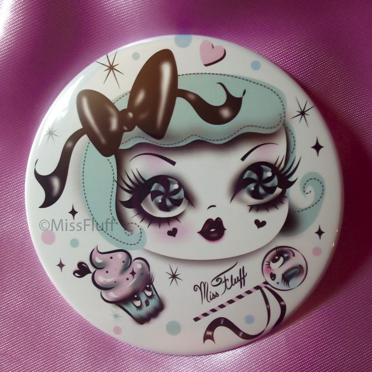 """3"""" Button-Style Pocket Mirrors This fabulous pocket mirror is not only stylish with amazing designs, but it also has a mirror for your everyday needs! - Size: 3"""". - Made in the USA. - Original Designs"""