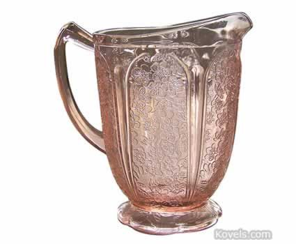 Depression glass little pitchers