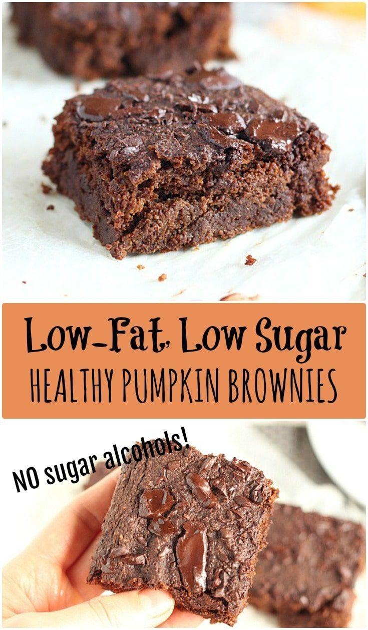 No Sugar Alcohols In These Low Sugar Oil Free Brownies Vegan Friendly Vegan Pumpkin Recipes Vegan Pumpkin Desserts Pumpkin Brownies