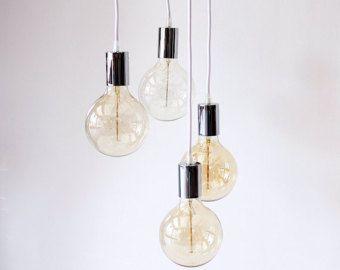 Industrial lampadario luce Cluster ciondolo illuminazione soffitto appeso luci Edison Lampadario moderno ciondolo luce Home Decor lampada fai da te
