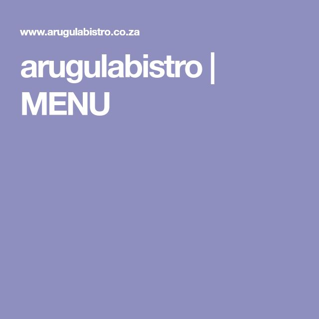 arugulabistro | MENU