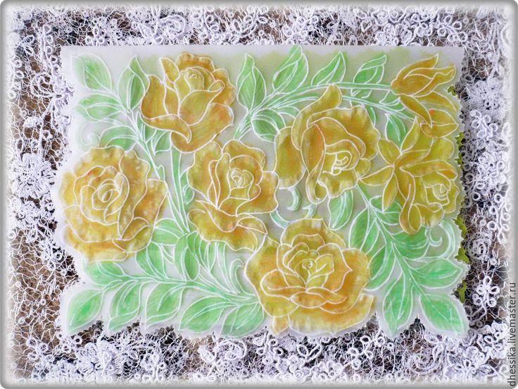 Купить Открытка на день рождения.Открытка на 8 марта .Открытка с розами. - открытка на день рождения