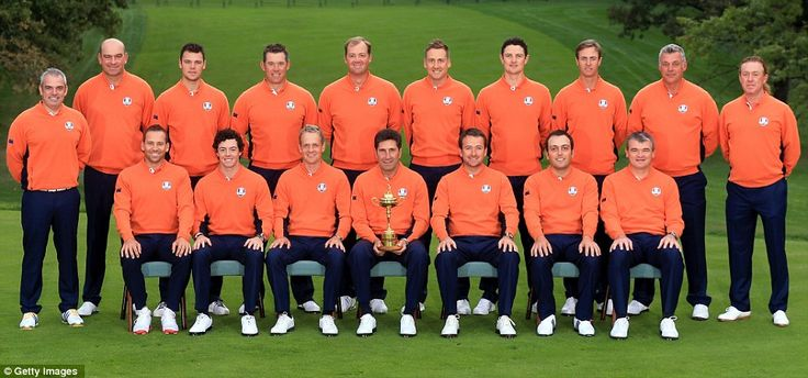 The full team standing out in bright orange on the first practice day...
