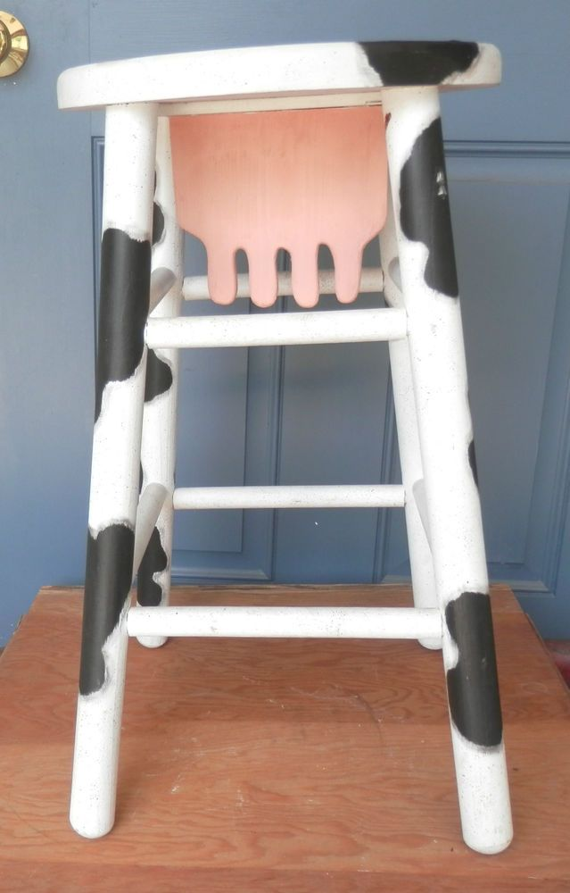Vintage Wooden Novelty Kitchen Bar Stool Cow Utterly  : 9ad37543b0a49d1ab8a206dca2595cab from pinterest.com size 639 x 1000 jpeg 57kB