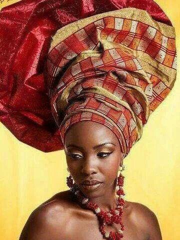 Head wrap - Gele ~Latest African Fashion, African Prints, African fashion styles, African clothing, Nigerian style, Ghanaian fashion, African women dresses,