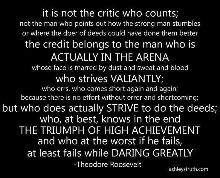 Theodore Roosevelt Daring Greatly