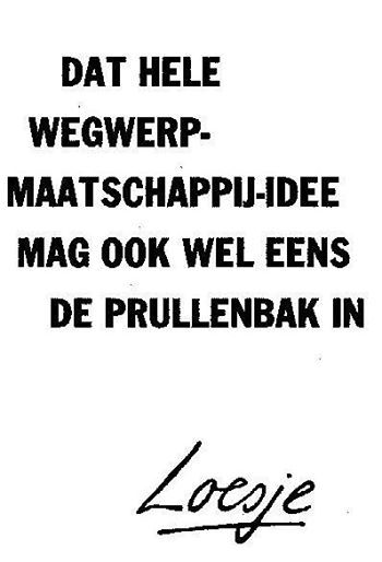 Tweedehandslaminaat.nl en Loesje zitten helemaal op één lijn#Recycle#GoedVoorMilieuEnPortemonnee
