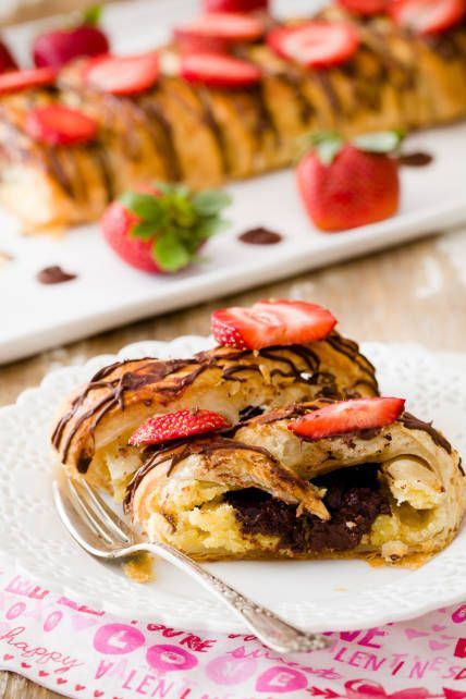 This five ingredient chocolate almond cheese danish is a perfect Valentine's Day dessert! It's so easy to make that you might feel like you cheated. :)
