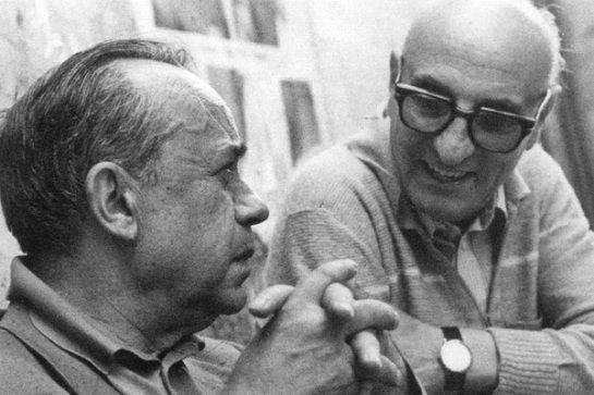 Leonardo Sciascia con Gesualdo Bufalino