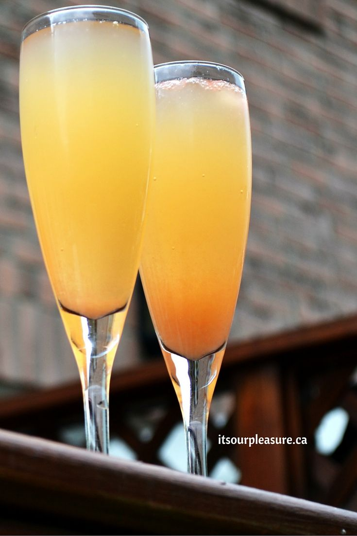 Try this simple recipe, Grapefruit Mimosas. A great pairing for a Sunday brunch.