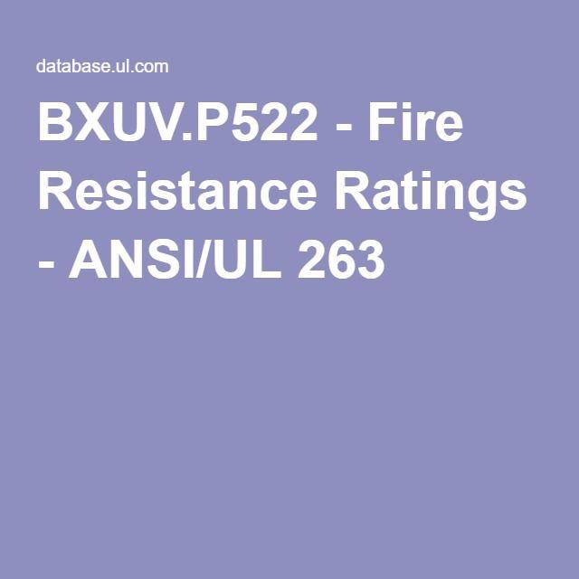 Ulp522 1 Hr Wood Truss Design Bxuv P522 Fire Resistance