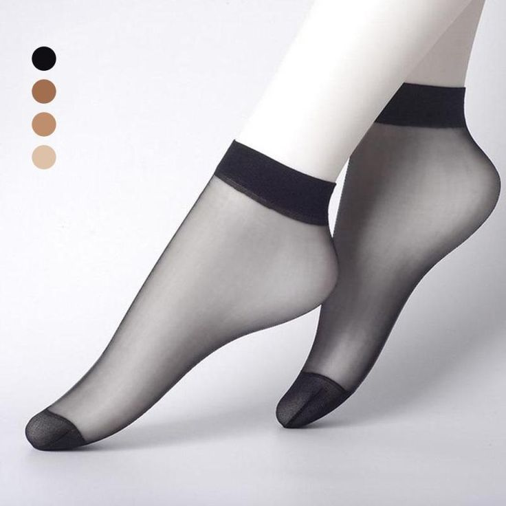 Transparent stocks Silk sock Wire hook Ankle Thin Crystal invisibility Ladies Shallow socks nylon Invisible Silk Short Tube Y2 #Affiliate