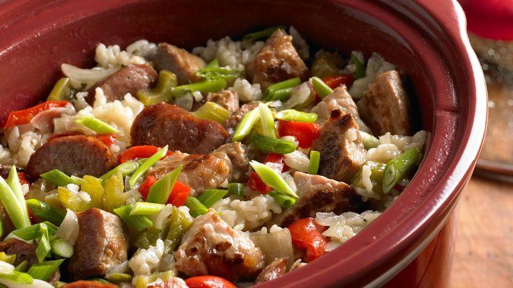 Image for Recipe Slow Cooker Cajun Sausage Jambalaya