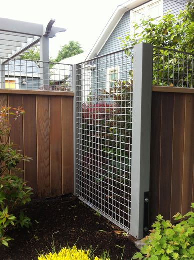 wow - great idea for a trellis / fence | some vines will have a fun time growing along here
