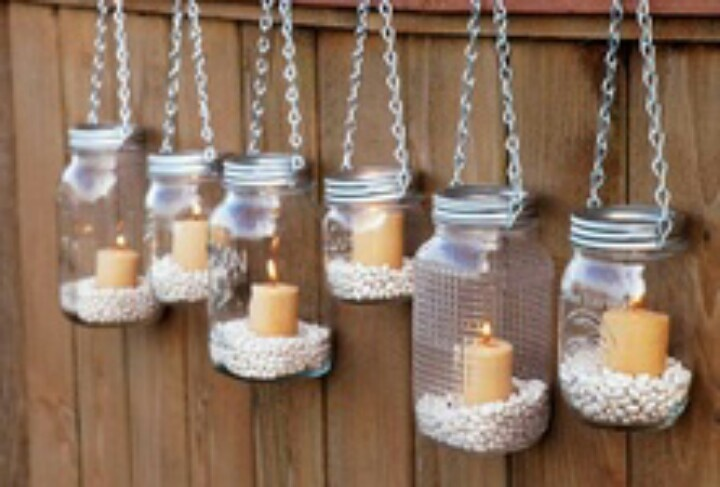 Cute candle holders diy home sweet home pinterest for Homemade candle holders