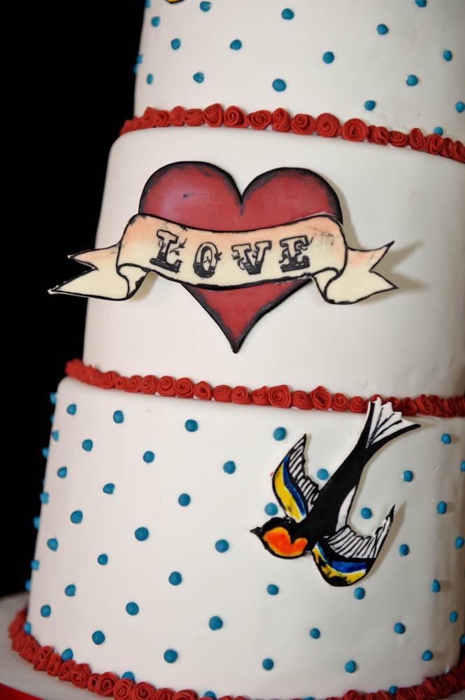 Tattoo Design Wedding Cake
