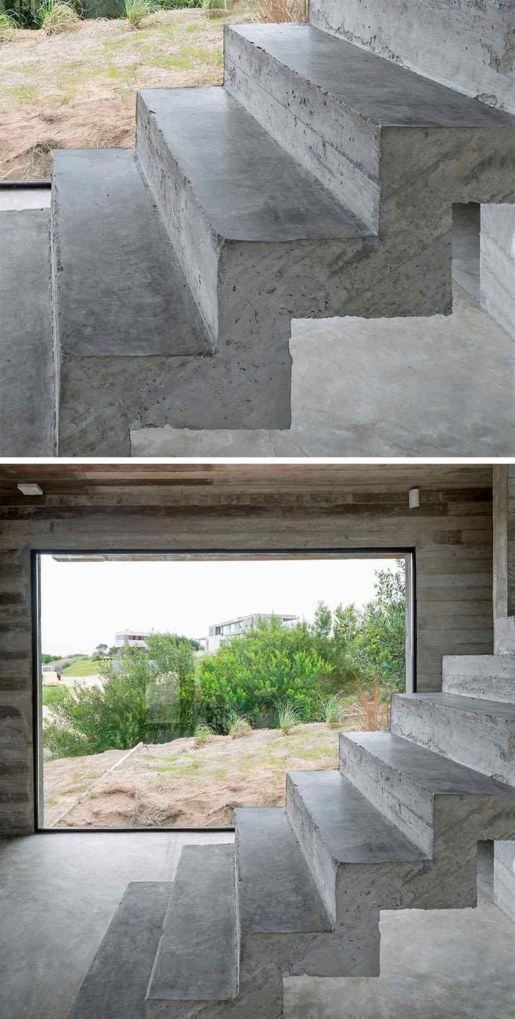 Les 25 meilleures id es concernant escalier flottant sur - Interieur moderne inspirant piliers en beton ...