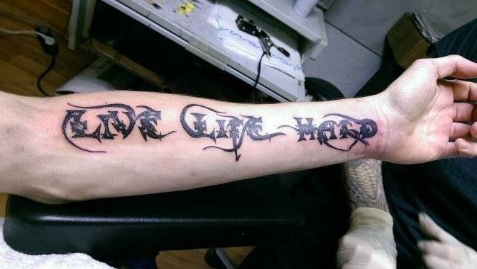 suicide silence you only live once live life hard tattoo tattoos piercings pinterest. Black Bedroom Furniture Sets. Home Design Ideas
