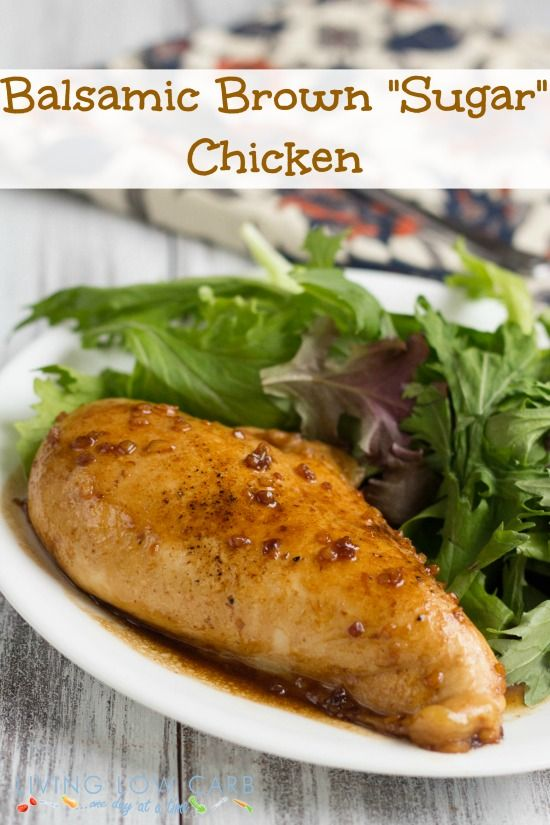 Balsamic Brown Sugar Chicken...only 5 ingrdients!  #paleo friendly #lowcarb