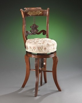 Antique Furniture, Regency Furniture, Antique Chair, Piano Stool ~ ca  1815