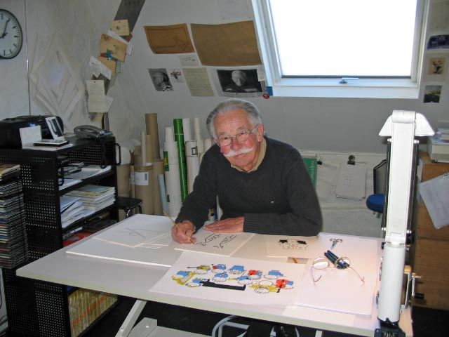 Dick Bruna and his spectacular white moustache