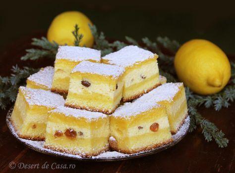 Prajitura cu branza dulce si stafide - Desert De Casa - Mara Popa