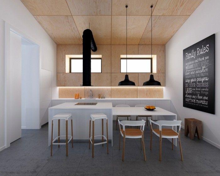 Kche Und Deckengestaltung Aus Holz