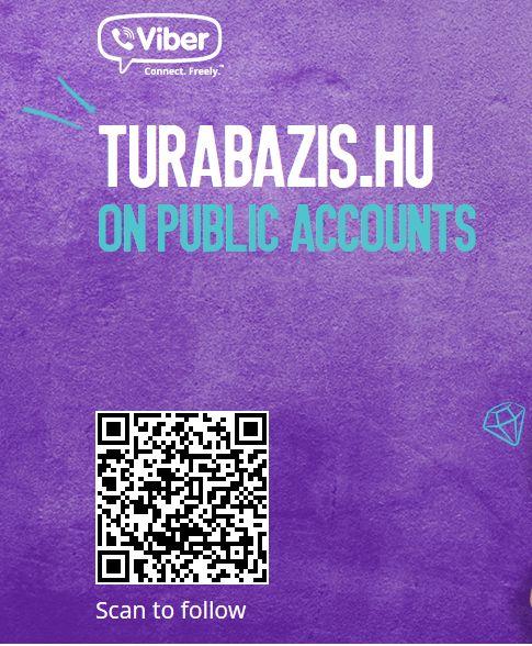 TúraBÁZIS a Viber-en. Kattanj rá Te is! http://chats.viber.com/turabazis.hu