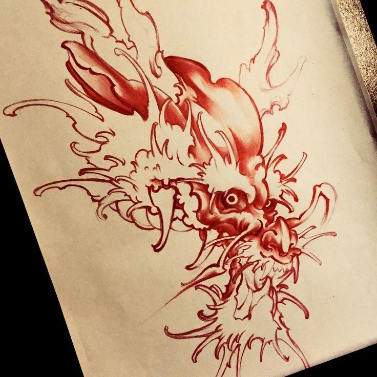 Dragon, tattoo, 龍, tattoo design, タトゥー 刺青 tattoo artwork, tattoo shop, Japanese style tattoo,