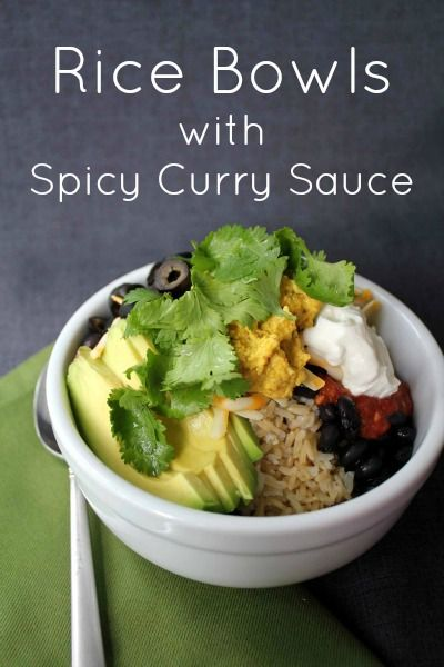 Rice Bowls with Spicy Curry Sauce (inspired by the wildly popular Whole Bowl with Tali Sauce from Whole Bowl food cart in Portland)