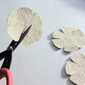 Burlap Flower Tutorial - Technique