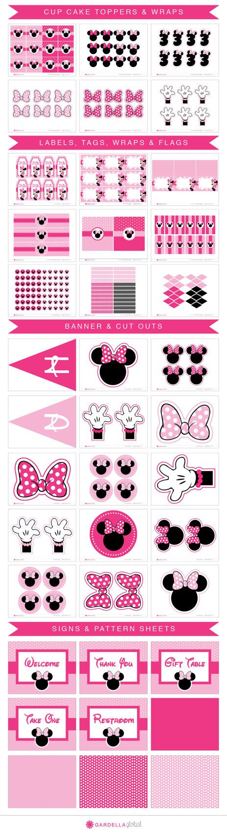 Invitar invitaciones de Minnie Mouse Minnie Mouse por DellaEvents