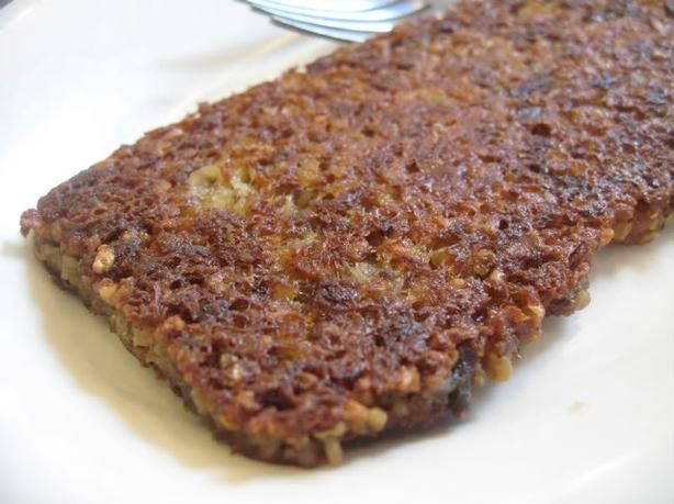 Goetta- ground beef and oats served like scrapple
