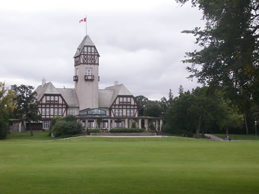 Assiniboine Park, Winnipeg, Manitoba. Thankfully,this charming building has been kept intact!  The conservatory and art gallery