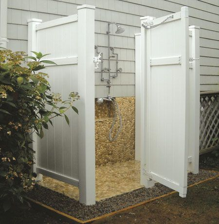 PVC Outdoor shower enclosure Maybe.....