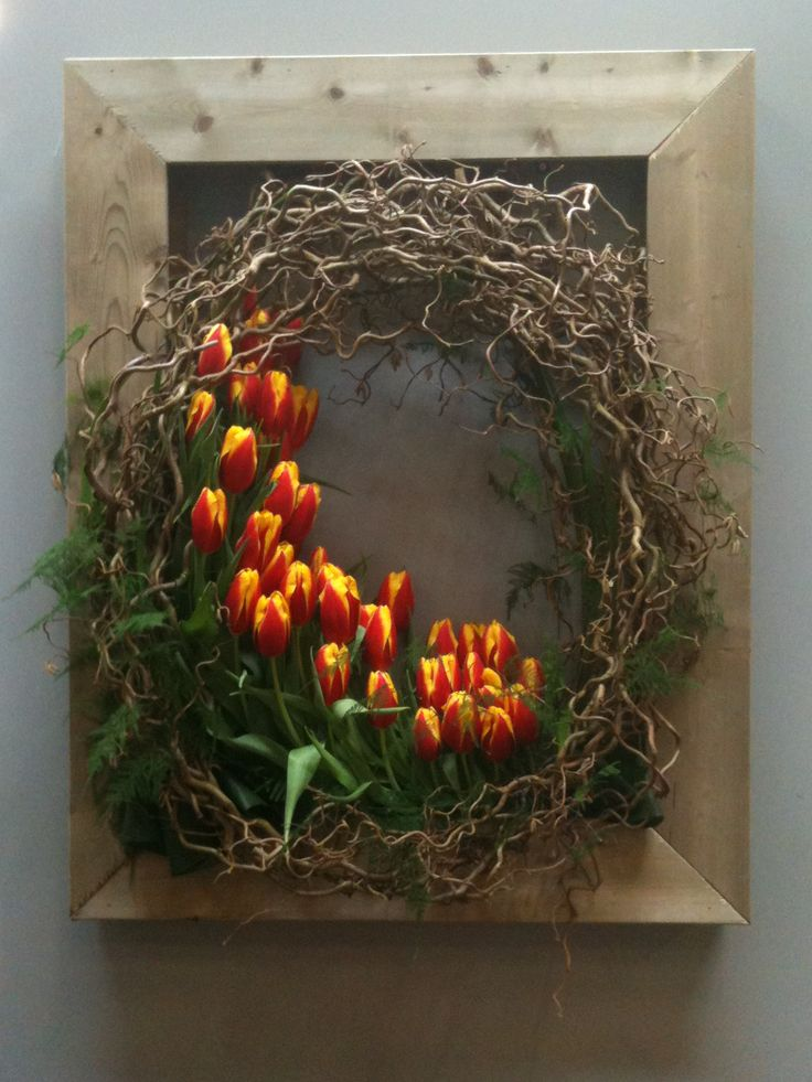 imaginative creation with tulips at this years Holland Food and Flowers exhibit 2013.