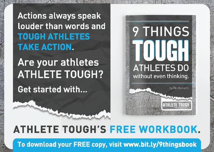 Want a taste of what it takes to be ATHLETE TOUGH? Our new '9 Things Tough Athletes Do' workbook is the perfect way to get started. Download your FREE copy today at bit.ly/9thingsbook