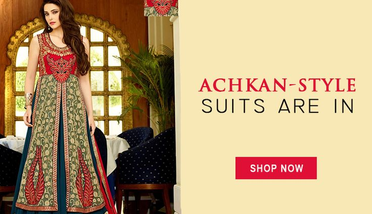 Add an elegant twist to your wardrobe with our latest collection of #AchkanStyleAnarkalis