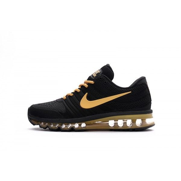 official photos da201 df284 ... aliexpress buy nike air max 2017 new nike air max 2017 mens black gold  running shoes