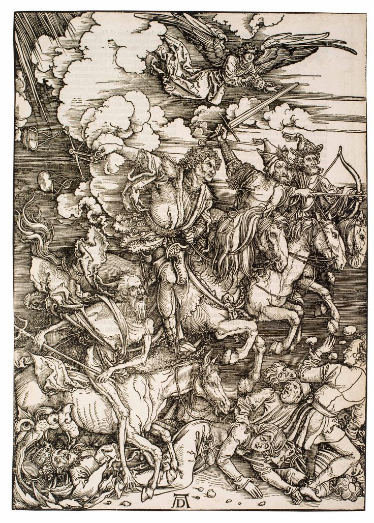 Third (second Latin) edition. The complete series of 16 monumental woodcuts, with Latin text on versos. – One of Dürer's 'Three Large Books.'