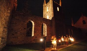 Experienced the heebie-jeebies during a lantern-lit ghost tour in the Vicars Cottage Port Arthur convict settlement, Tasmania, Australia. This is one of the top 10 most haunted in Australia.