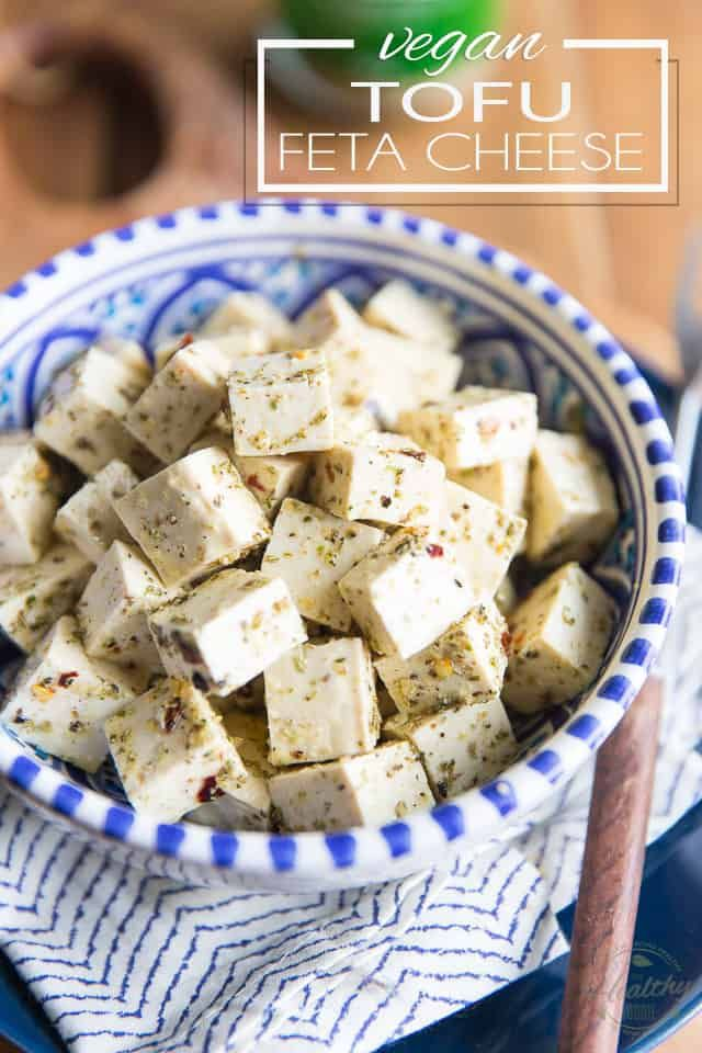 This Vegan Tofu Feta Cheese Is A Great Addictive And Easy To Make Vegan Substitute For Traditional Feta Delicious In Salads Or On In 2020 Tofu Feta Feta Cheese Feta