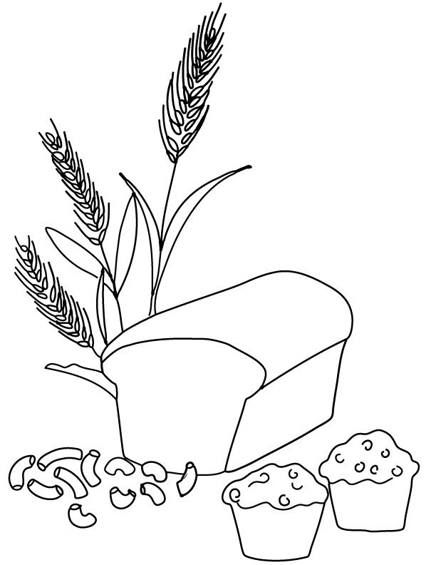 bread cereal rice pasta coloring pages | 91 best Bread - Kenyér images on Pinterest | Baking, Bread ...